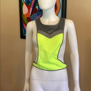 Neon NIKE Running Safely Vest top reflective SMALL